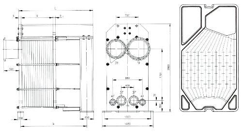 Технические характеристики пластинчатого теплообменника-испарителя Concitherm CT193