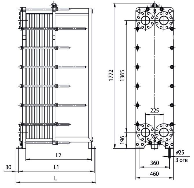 Теплообменник нн 14 ридан нн Кожухотрубный испаритель Alfa Laval DM3-326-2 Озёрск