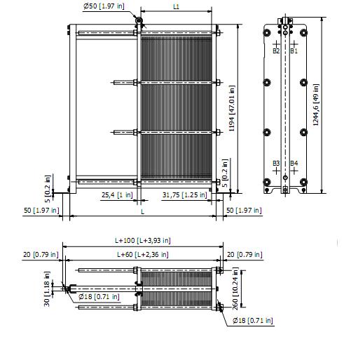 Теплообменник гликоль-вода топливный теплообменник к 124 2и5 дизель