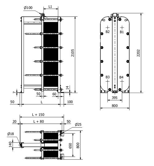 Пластинчатые теплообменники sondex чертёж подключение пластинчатые теплообменники