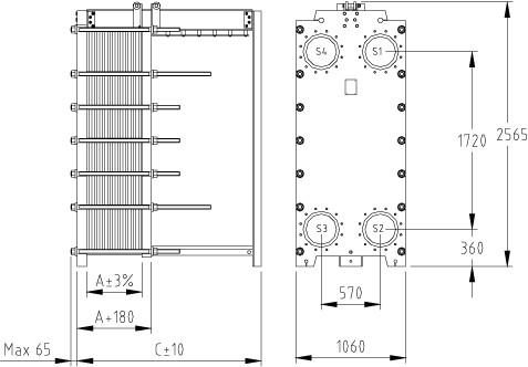 Пластины к теплообменнику м6-mfg-pl теплообменник для захолаживания асфальта