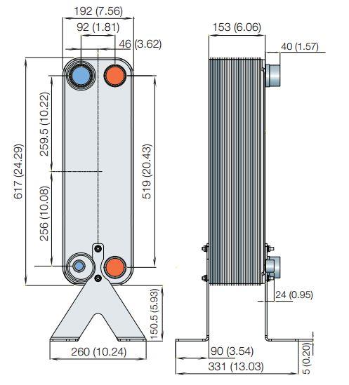 Паяный теплообменник Alfa Laval AC 230 DQ Салават Паяный пластинчатый теплообменник SWEP B28H-pressure Ейск