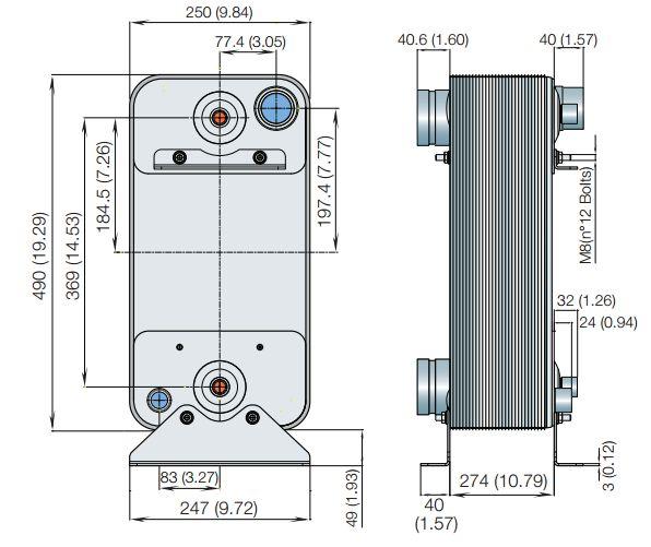 Паяный теплообменник Alfa Laval AXP52 Ноябрьск Пластинчатый теплообменник Tranter GL-085 P Ейск