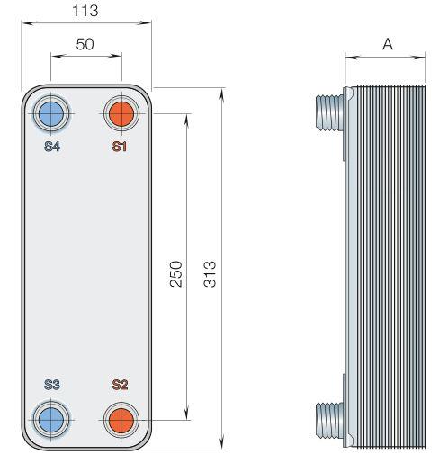 Паяный теплообменник Alfa Laval CB20-18H Чебоксары Кожухотрубный жидкостный ресивер ONDA RL-V 5 Артём