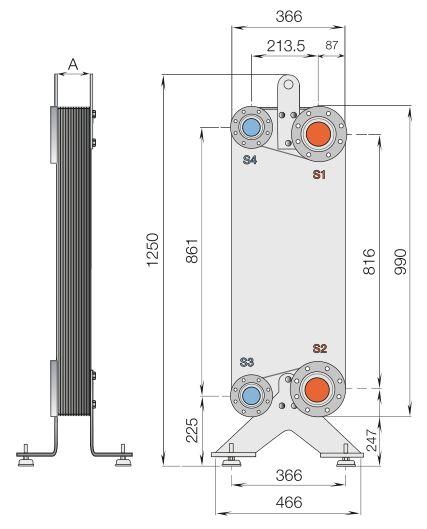 Паяный теплообменник Alfa Laval CB20-30H Мурманск Пластинчатый теплообменник Sondex S81 Находка