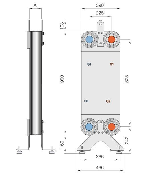 Рассчитать теплообменник альфа лаваль Кожухотрубный испаритель Alfa Laval FEV-HP 1805 Дербент