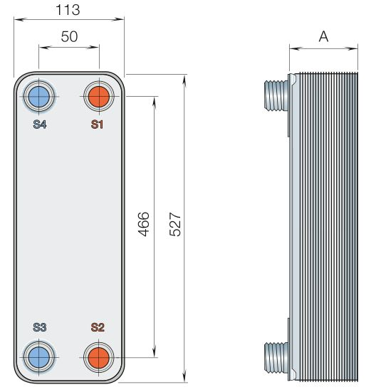 Паяный теплообменник Alfa Laval CBXP52 Ноябрьск Пластинчатый теплообменник Ciat PWB 65 Пушкино