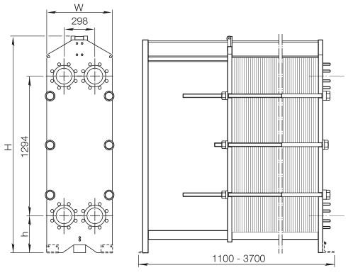 Пластинчатый теплообменник Alfa Laval M15-BFM Махачкала Кожухотрубный испаритель Alfa Laval DM2-276-3 Набережные Челны