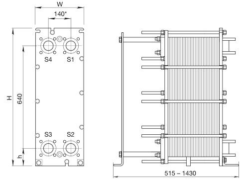 Пластинчатый теплообменник Alfa Laval TL10-BFG Новый Уренгой Подогреватель высокого давления ПВД-К-700-24-4,5-6 Камышин