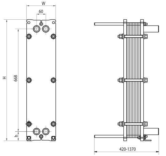Пластинчатый теплообменник Alfa Laval TL3-BFG Новосибирск Кожухопластинчатый теплообменник-испаритель Машимпэкс (GEA) с сепаратором PSHE-3 Уфа