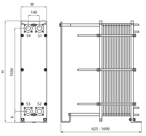 Пластины теплообменника Alfa Laval AQ14S-FD Москва Кожухотрубный испаритель ONDA MPE 160 Рязань