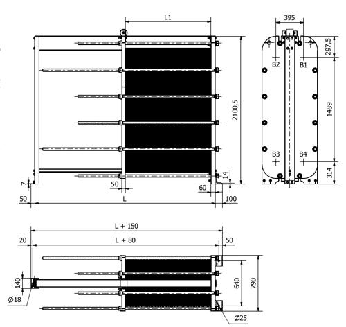 Паяный пластинчатый теплообменник SWEP B16DW U-Pressure Невинномысск