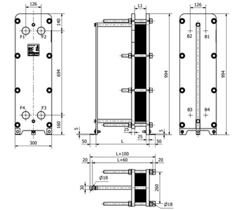 Уплотнения теплообменника Sondex S121 Ейск Кожухотрубный теплообменник Alfa Laval VLR7x25/104-6,0 Балашиха