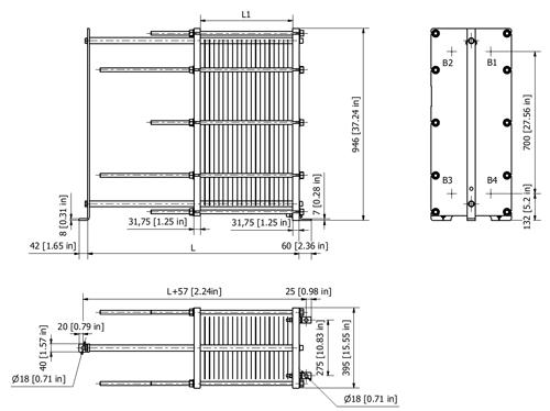 Пластинчатый теплообменник Sondex S20A Набережные Челны Паяный пластинчатый теплообменник SWEP DV700 Мурманск
