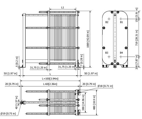 Пластинчатый теплообменник Sondex S220 Сыктывкар Паяный теплообменник Alfa Laval CB112-30L Бийск