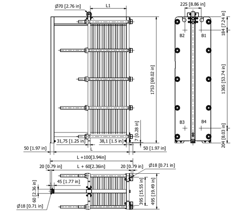 Пластинчатый разборный теплообменник SWEP GX-205P Ачинск