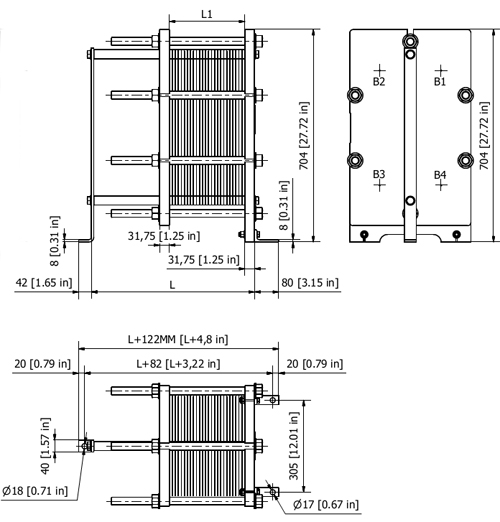 Пластины теплообменника Alfa Laval TM20-B FKR Абакан