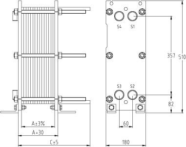Пластинчатый разборный теплообменник SWEP GC-51N Архангельск Кожухотрубный испаритель WTK DBE 235 Чайковский