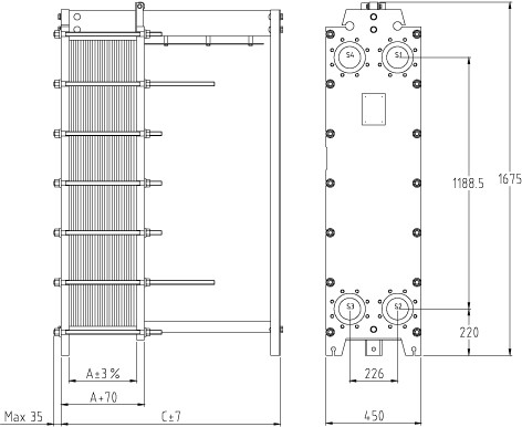 Пластинчатый разборный теплообменник SWEP GC-60P Шадринск Пластины теплообменника Этра ЭТ-022 Саров