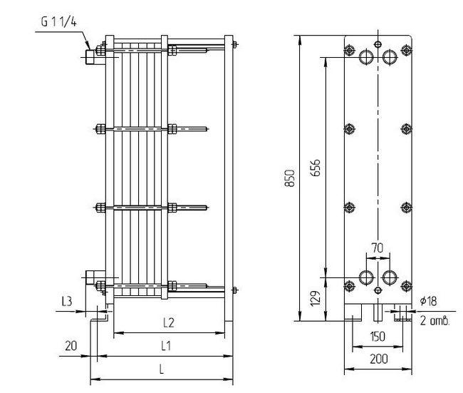 Уплотнения теплообменника КС 130 Рязань