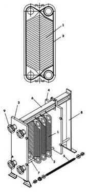 Уплотнения теплообменника Kelvion LWC 100M Саранск Кожухотрубный конденсатор Alfa Laval CRF274-6-S 2P Железногорск