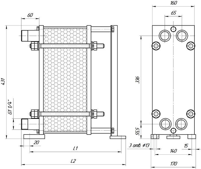 Пластинчатый теплообменник Sondex S100 Рубцовск