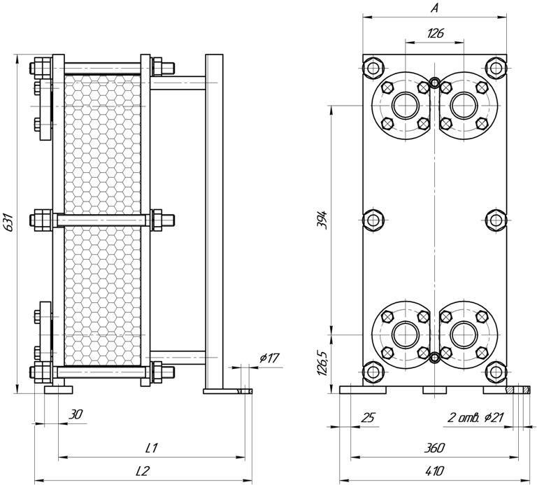 Пластинчатый теплообменник ТПлР S23 IG.02. Кызыл