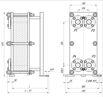 Расчет пластинчатого теплообменника калькулятор теплообменник для дачной печи