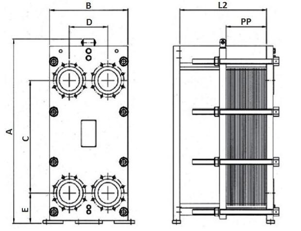 Уплотнения теплообменника Funke FP 71 Челябинск Кожухотрубный конденсатор Alfa Laval ACFL 300/207 Чита
