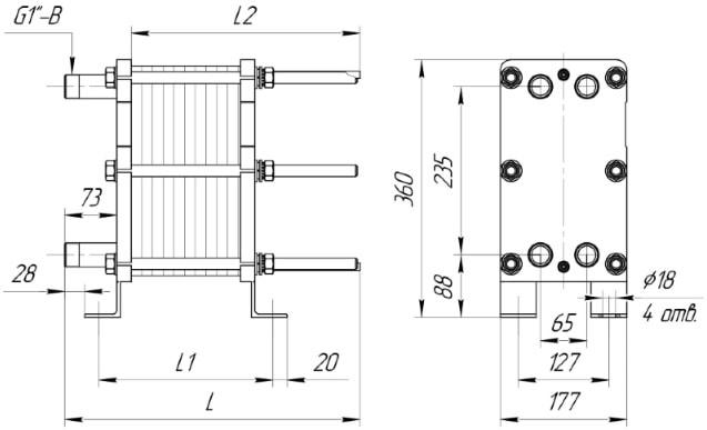 Пластинчатый теплообменник Машимпэкс (GEA) NT 250M Тамбов печей кузнецова с теплообменником