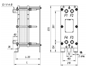 Уплотнения теплообменника Tranter GL-013 N Подольск Подогреватель низкого давления ПН 400-26-7 II Саров