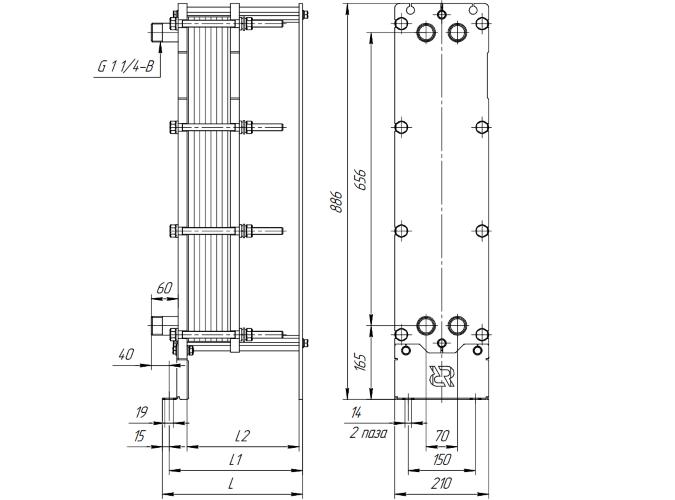 Пластинчатый теплообменный аппарат Funke FP 42 Оренбург Уплотнения теплообменника Машимпэкс (GEA) NX150X Якутск