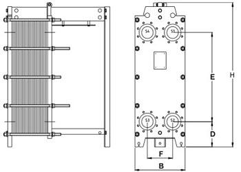Пластинчатый теплообменник Tranter GX-060 P Бийск Паяный теплообменник Alfa Laval CB30-18H Киров